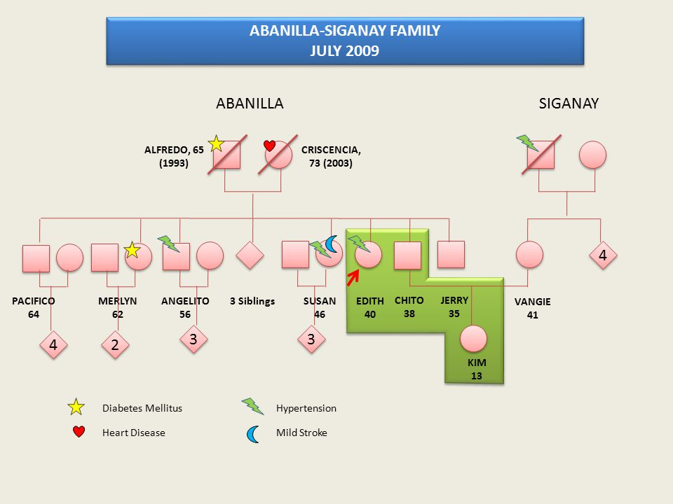 ABANILLA-SIGANAY FAMILY