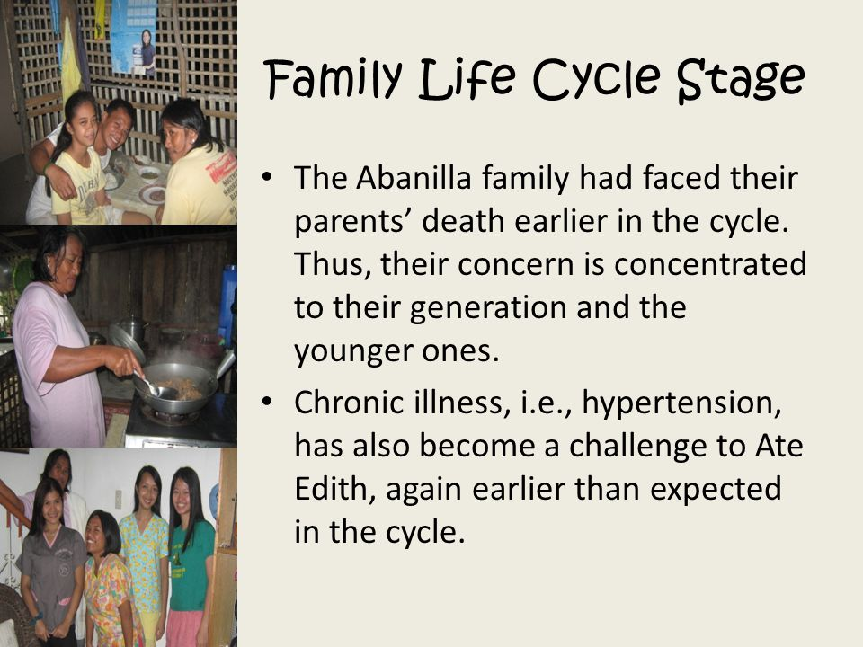 Family Life Cycle Stage