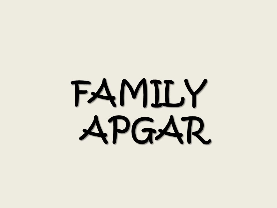 FAMILY APGAR