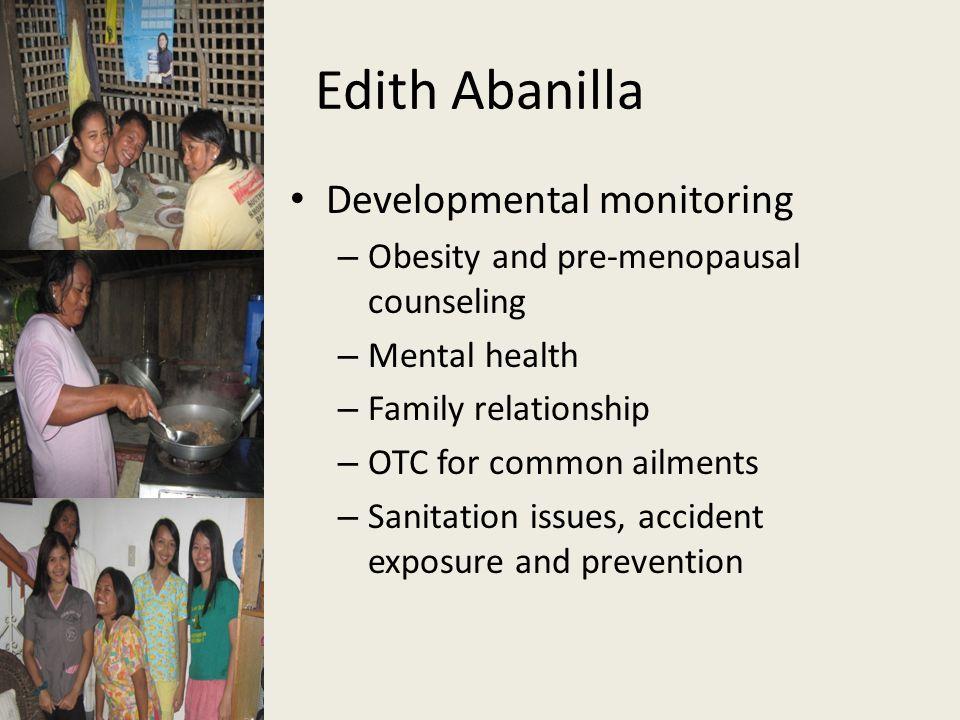 Edith Abanilla Developmental monitoring