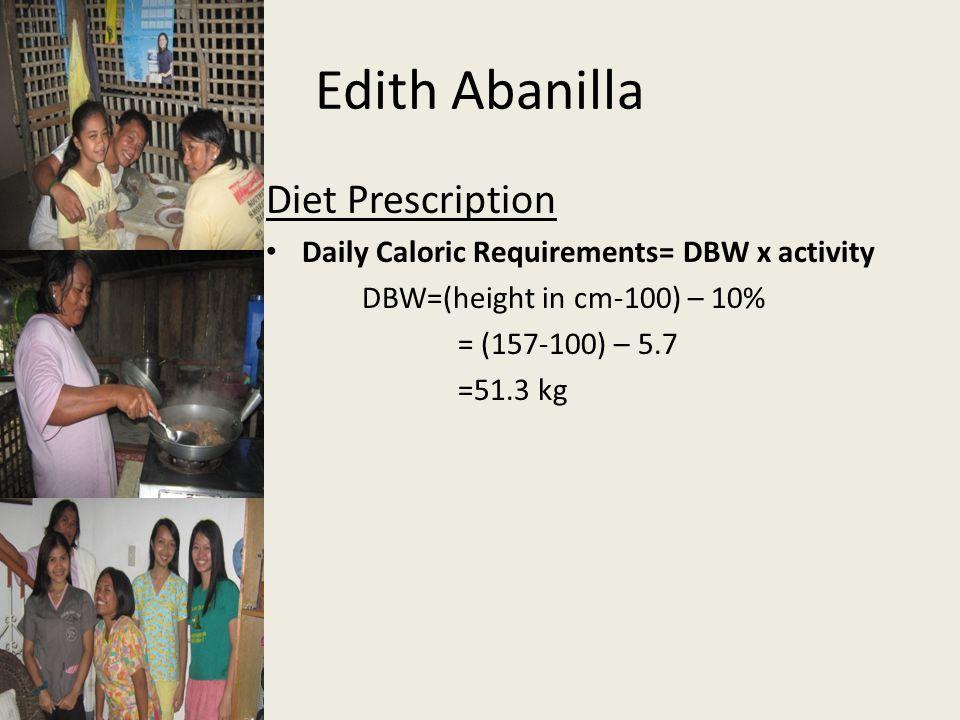 Edith Abanilla Diet Prescription