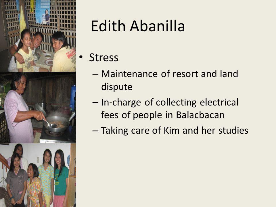 Edith Abanilla Stress Maintenance of resort and land dispute