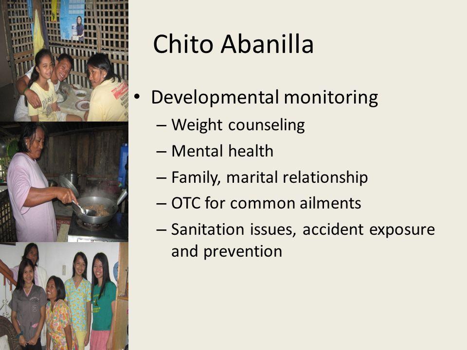 Chito Abanilla Developmental monitoring Weight counseling