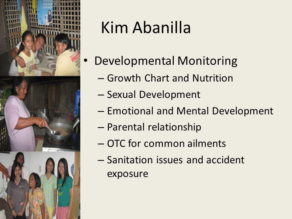 Kim Abanilla Developmental Monitoring Growth Chart and Nutrition