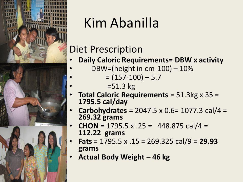Kim Abanilla Diet Prescription