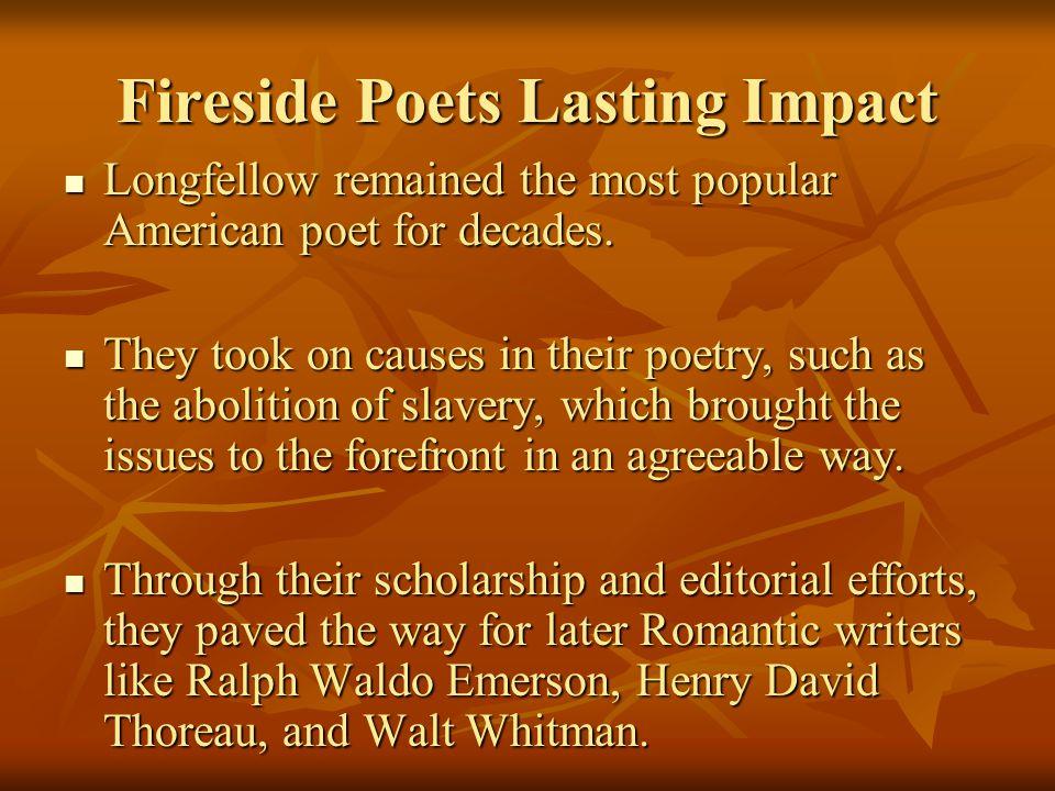 Fireside Poets Lasting Impact