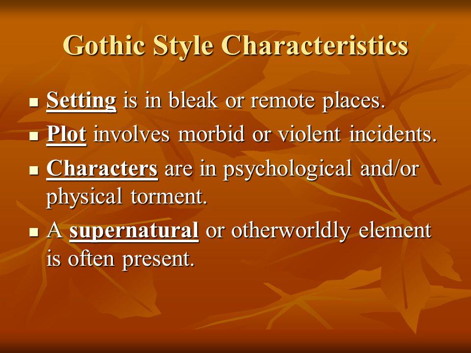 Gothic Style Characteristics