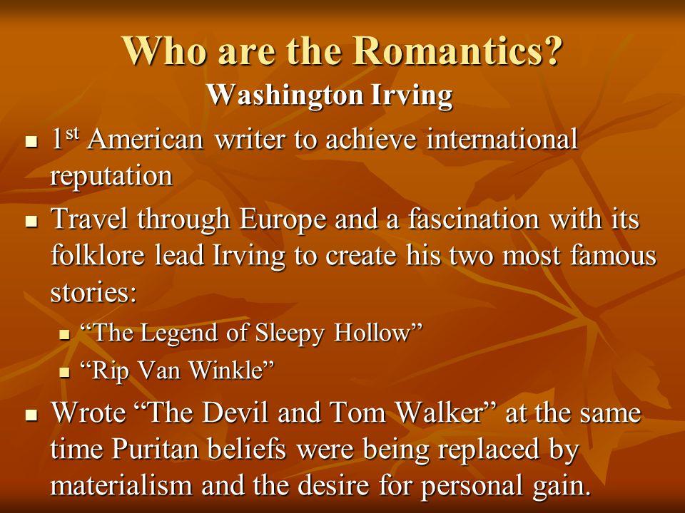 Who are the Romantics Washington Irving