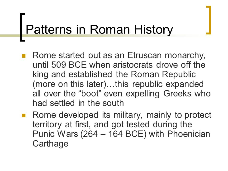 Patterns in Roman History