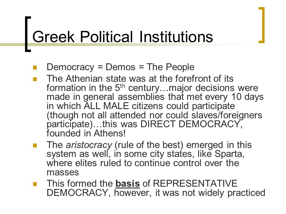 Greek Political Institutions