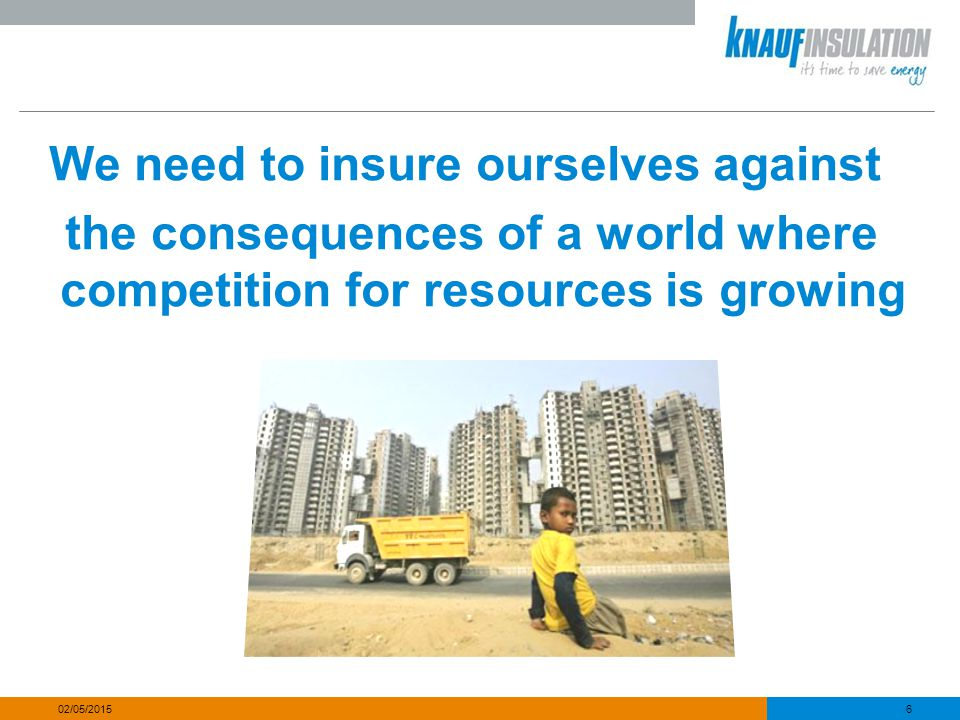We need to insure ourselves against the consequences of a world where competition for resources is growing