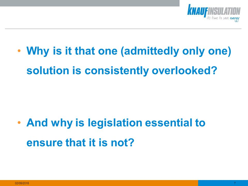 And why is legislation essential to ensure that it is not