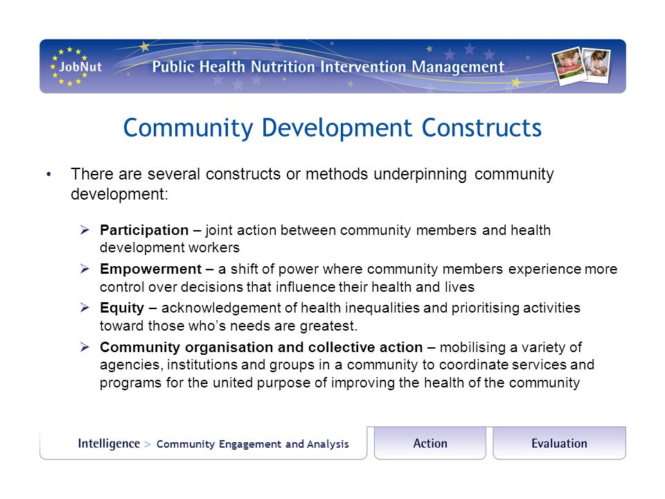 Community Development Constructs