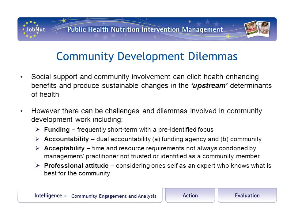 Community Development Dilemmas