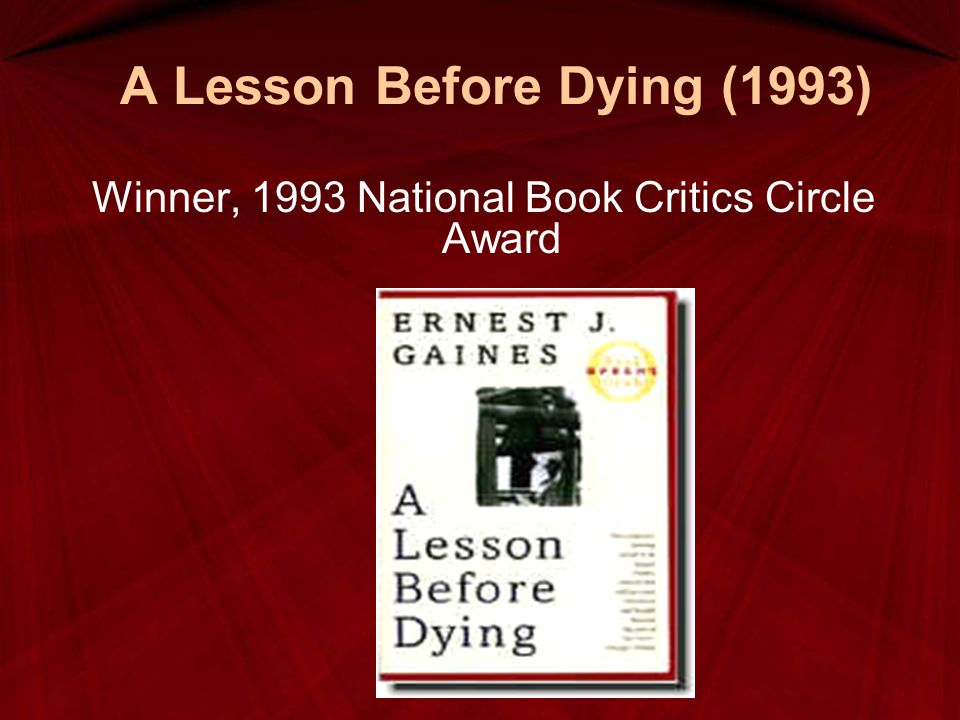 A Lesson Before Dying (1993)