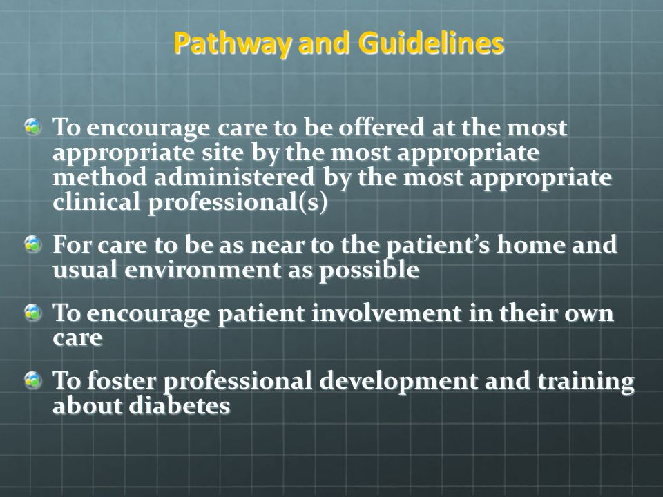 Pathway and Guidelines