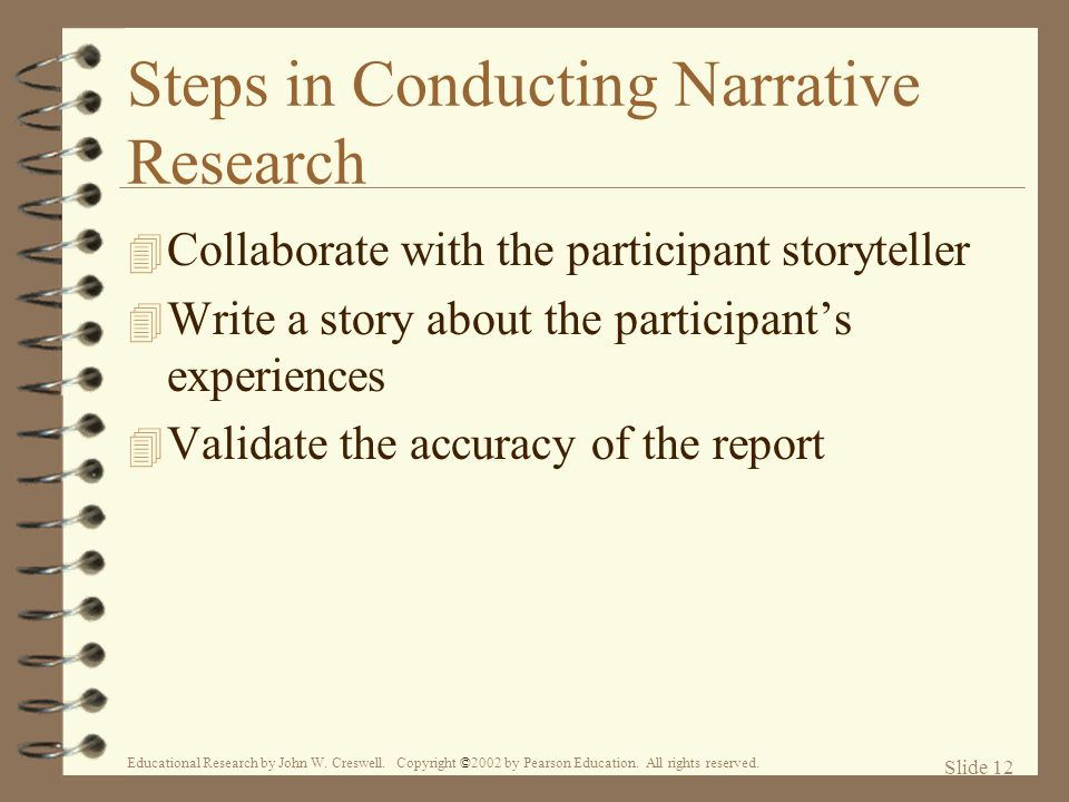Steps in Conducting Narrative Research