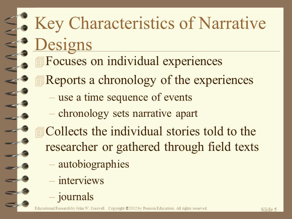 Key Characteristics of Narrative Designs