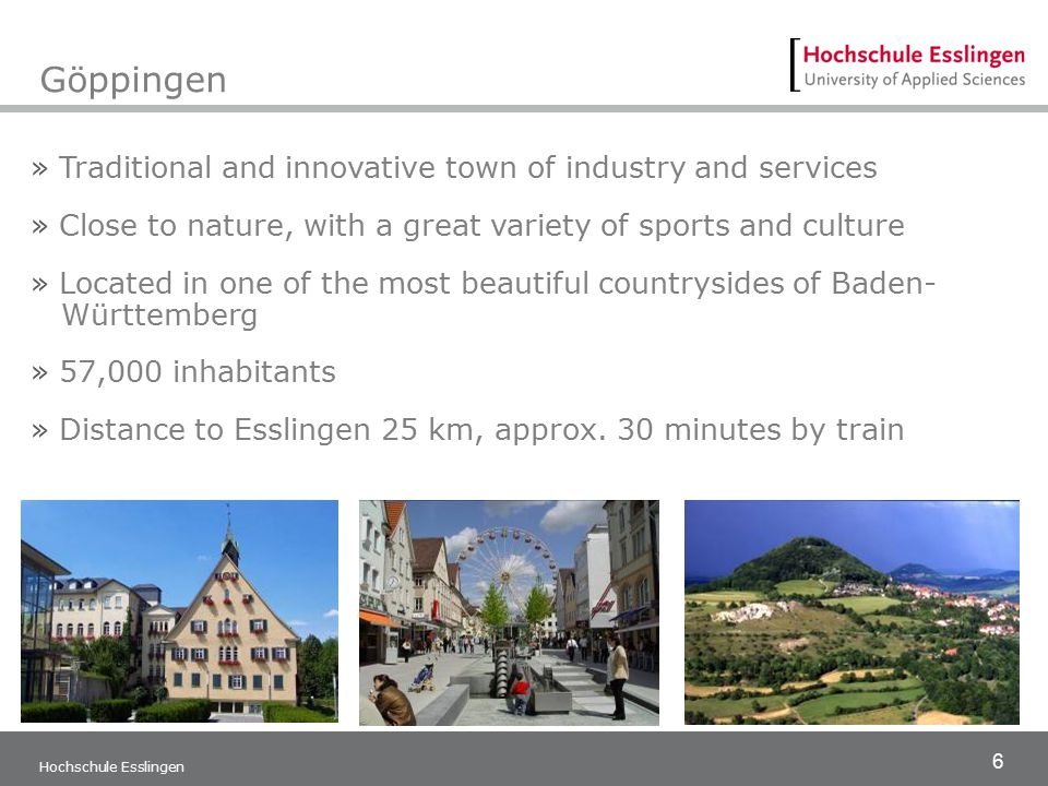 Göppingen Traditional and innovative town of industry and services