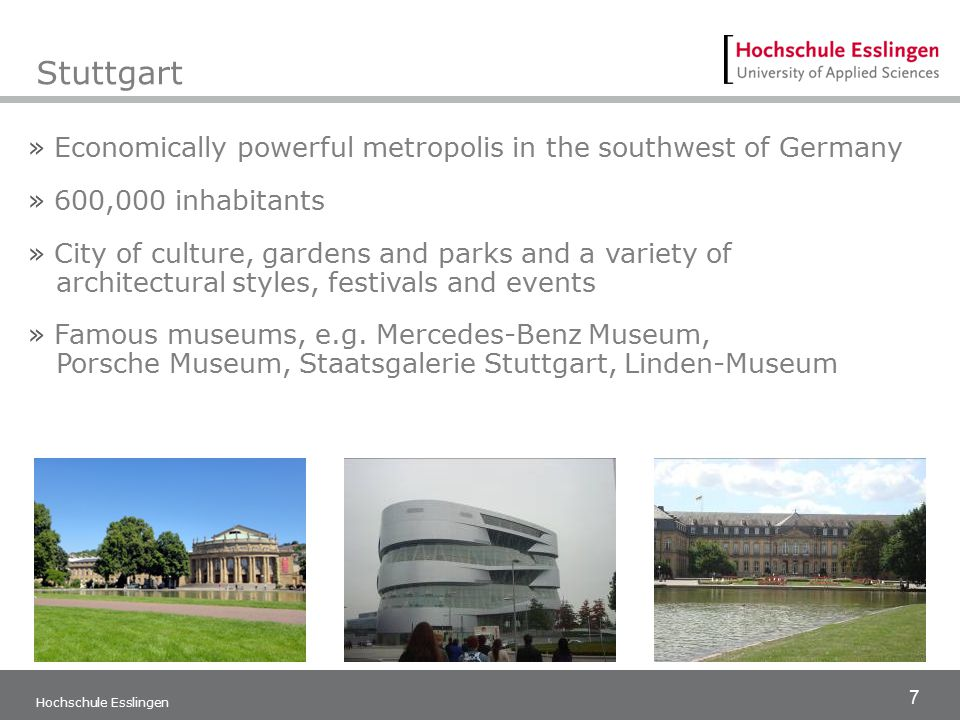 Stuttgart Economically powerful metropolis in the southwest of Germany