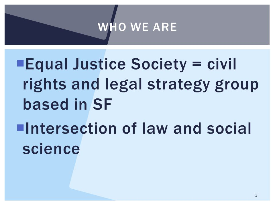 Intersection of law and social science