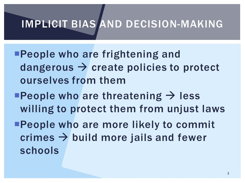 Implicit bias and decision-making