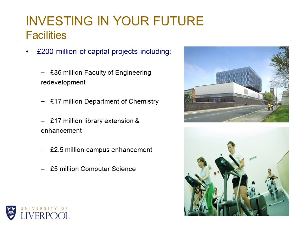 INVESTING IN YOUR FUTURE Facilities