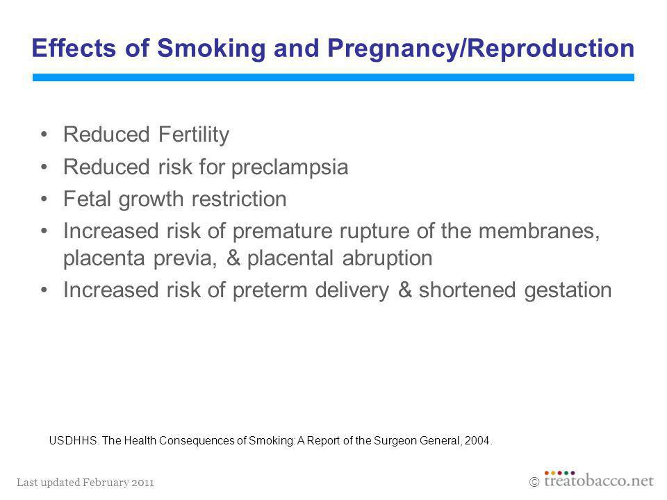 Effects of Smoking and Pregnancy/Reproduction