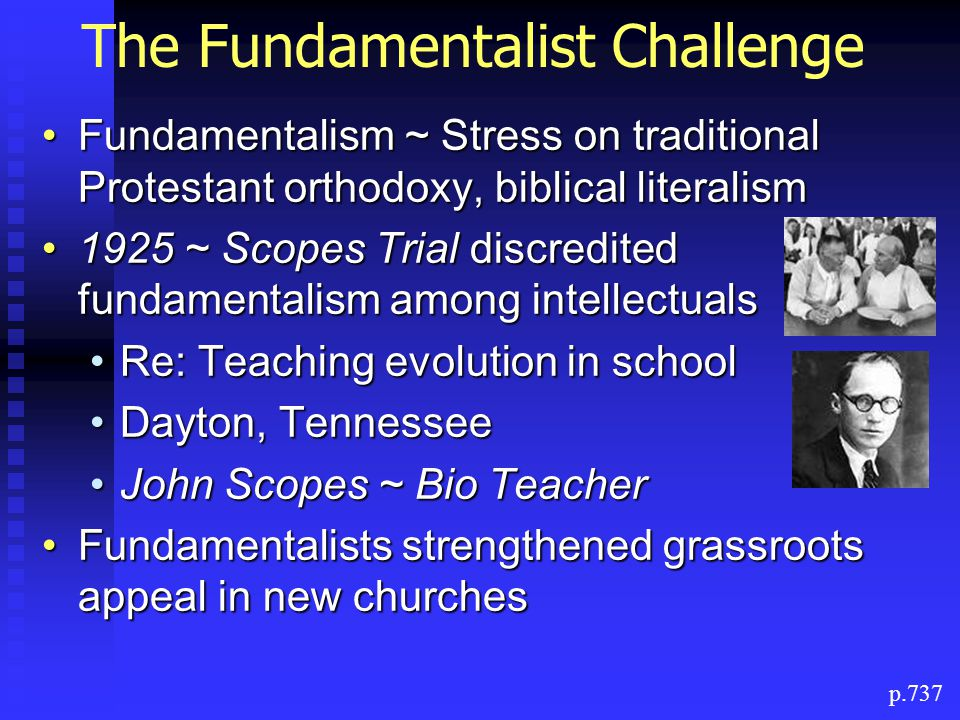 The Fundamentalist Challenge