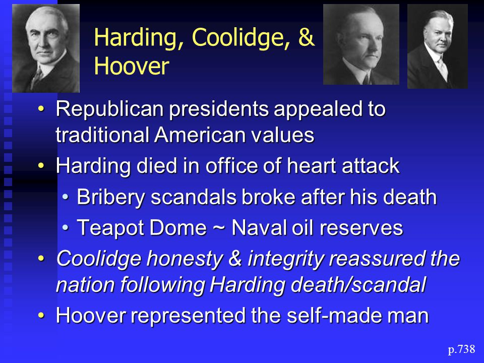 Harding, Coolidge, & Hoover