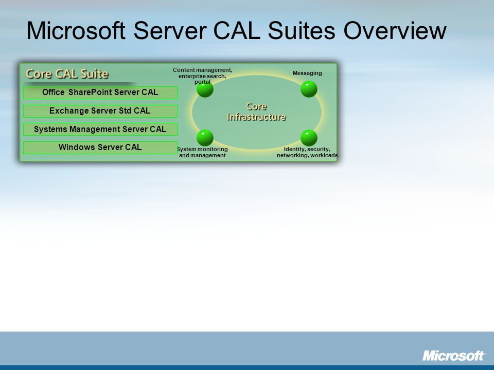 Microsoft Server CAL Suites Overview