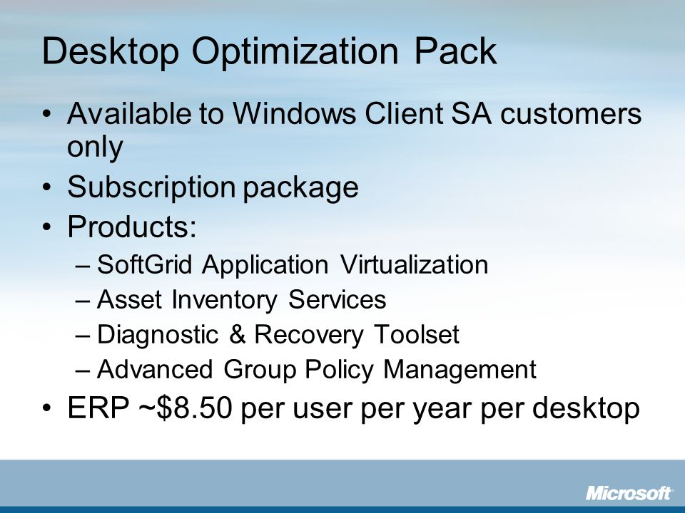 Desktop Optimization Pack