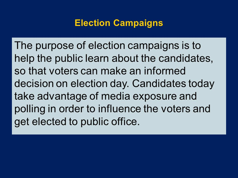 Election Campaigns