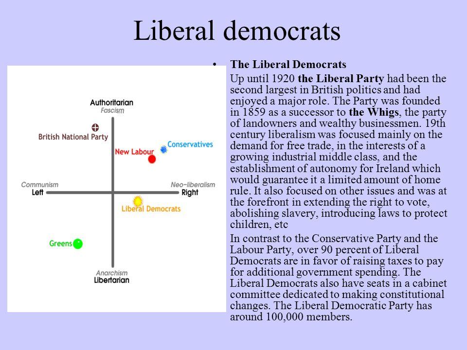 Liberal democrats The Liberal Democrats