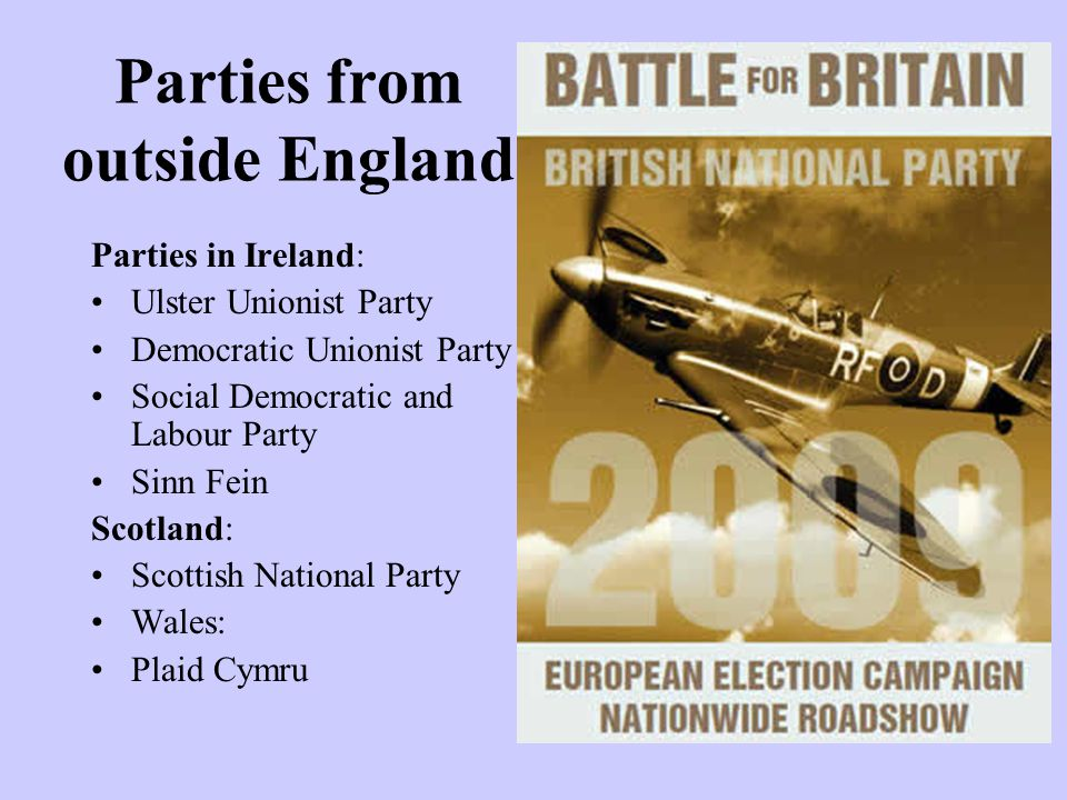 Parties from outside England