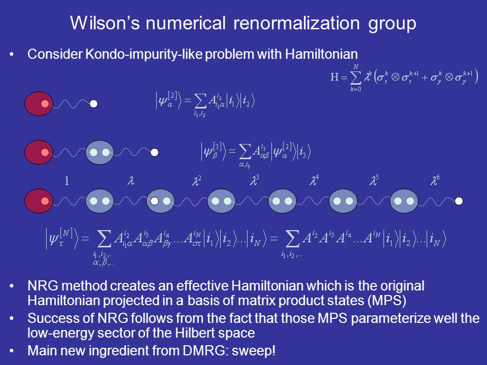 Wilson's numerical renormalization group