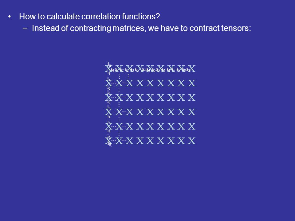 How to calculate correlation functions