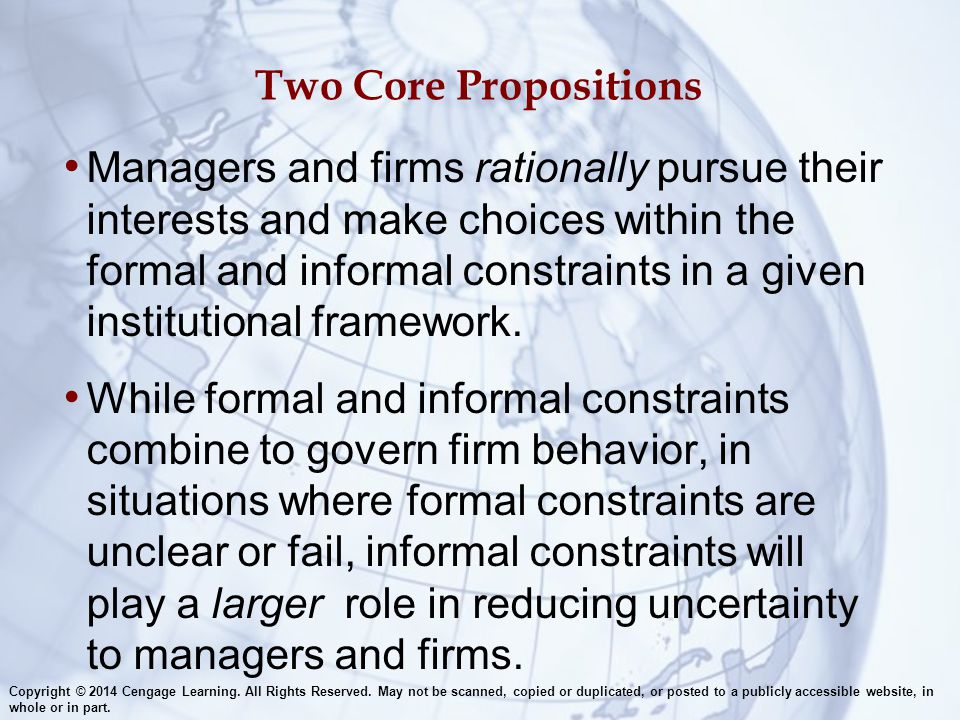 Two Core Propositions