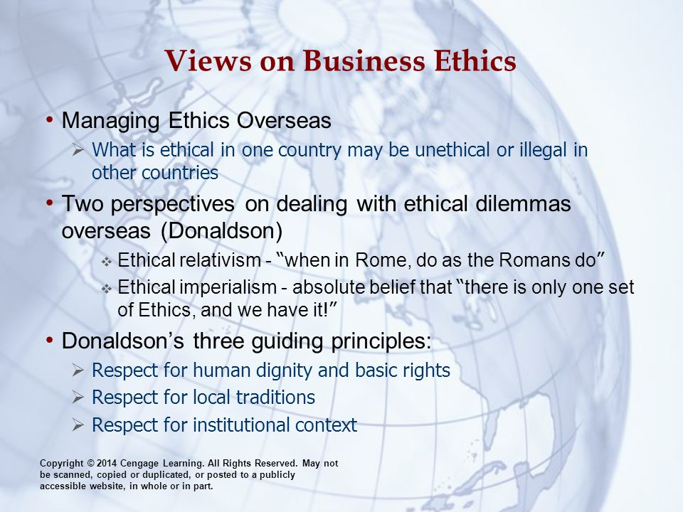 Views on Business Ethics