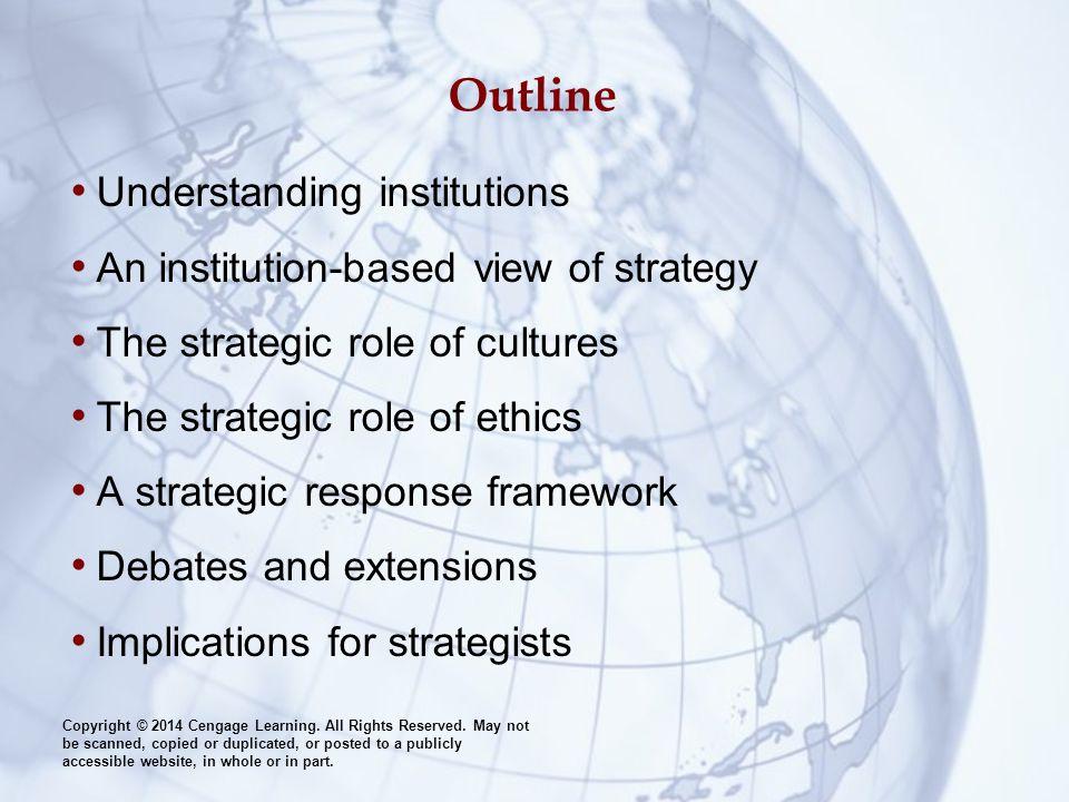 Outline Understanding institutions