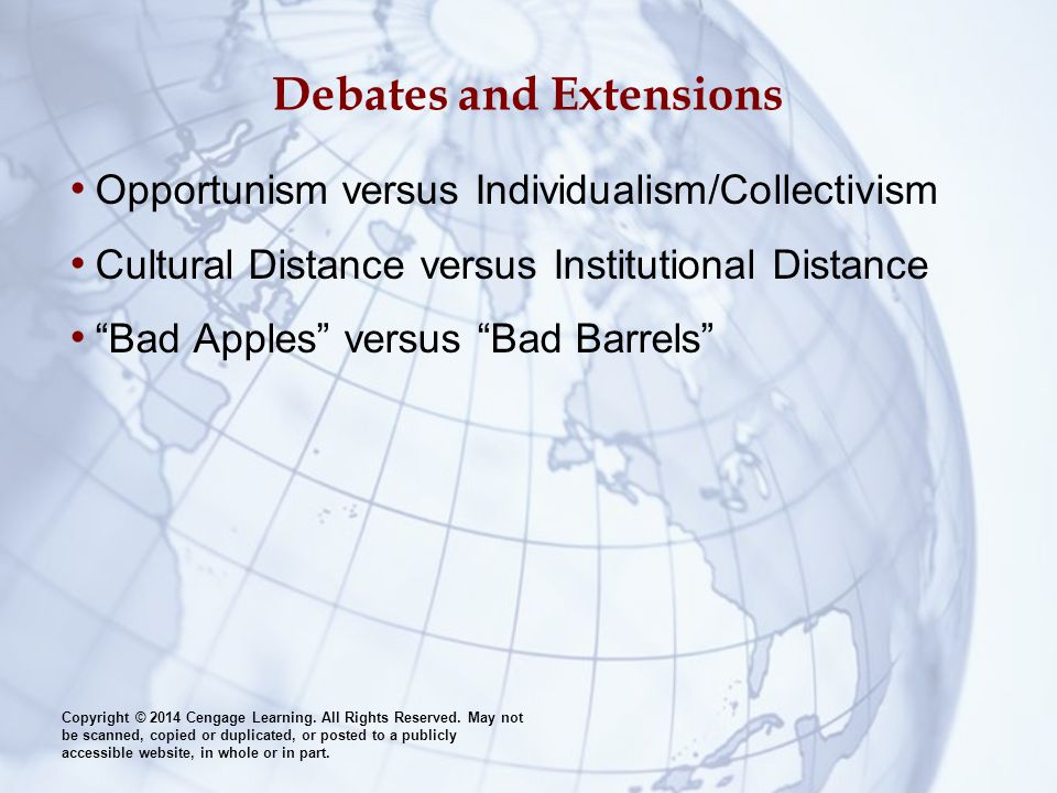 Debates and Extensions
