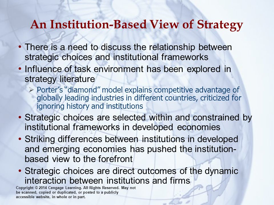 An Institution-Based View of Strategy