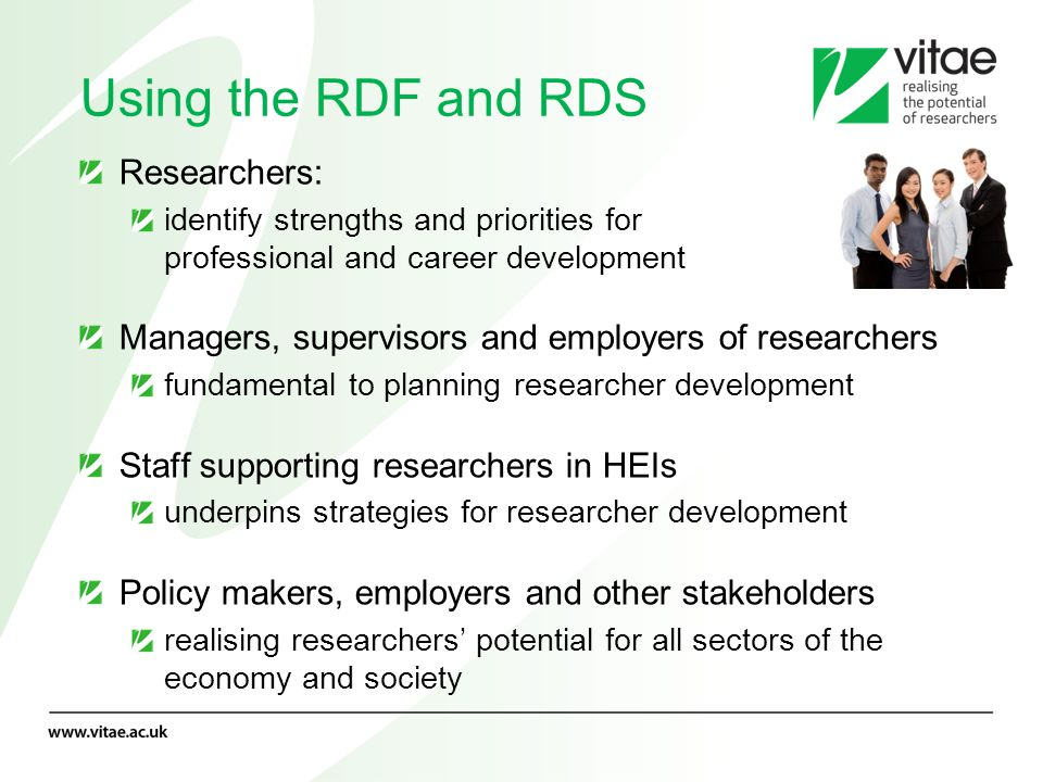 Using the RDF and RDS Researchers: