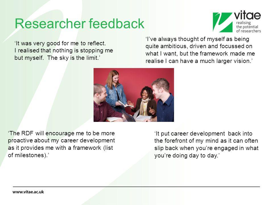 Researcher feedback