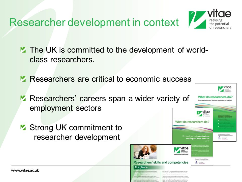 Researcher development in context
