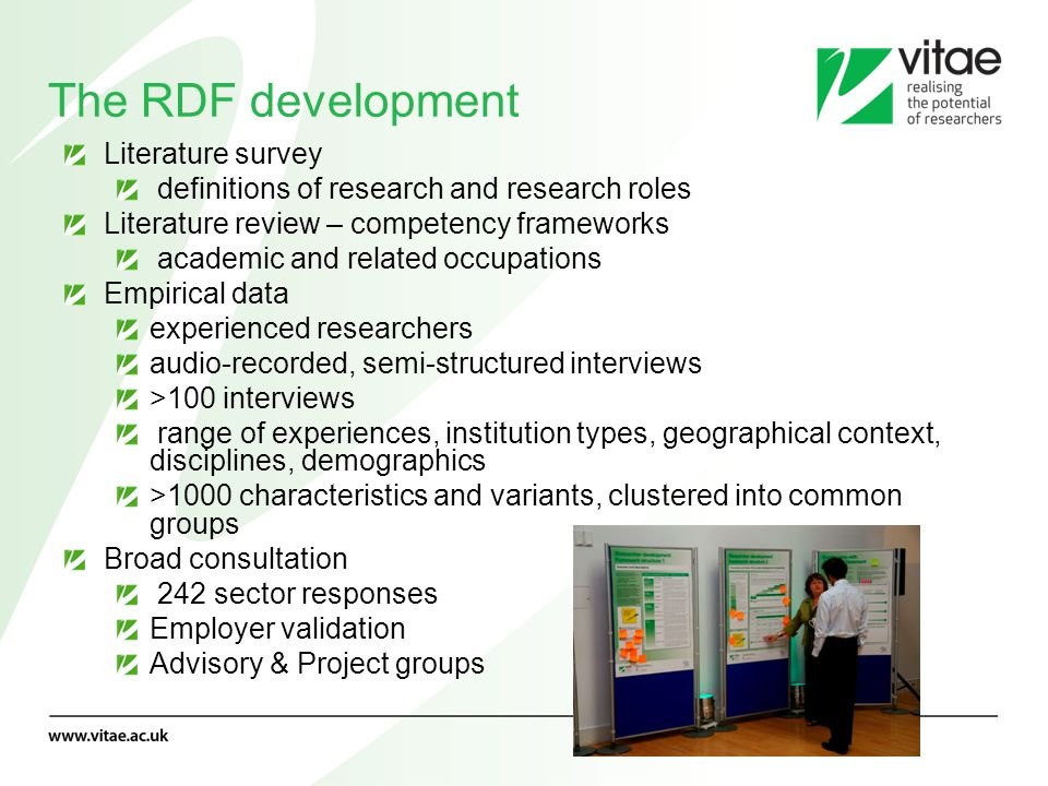 The RDF development Literature survey