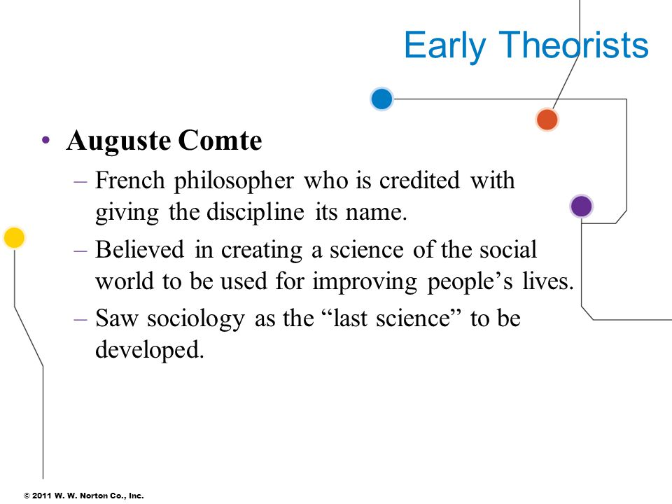 Early Theorists Auguste Comte