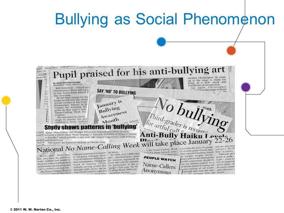Bullying as Social Phenomenon