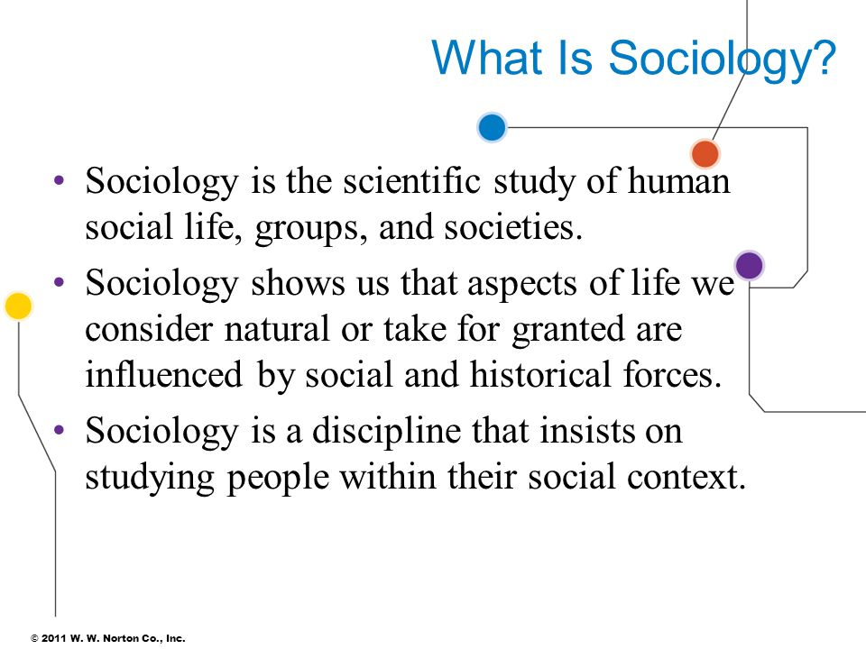What Is Sociology Sociology is the scientific study of human social life, groups, and societies.