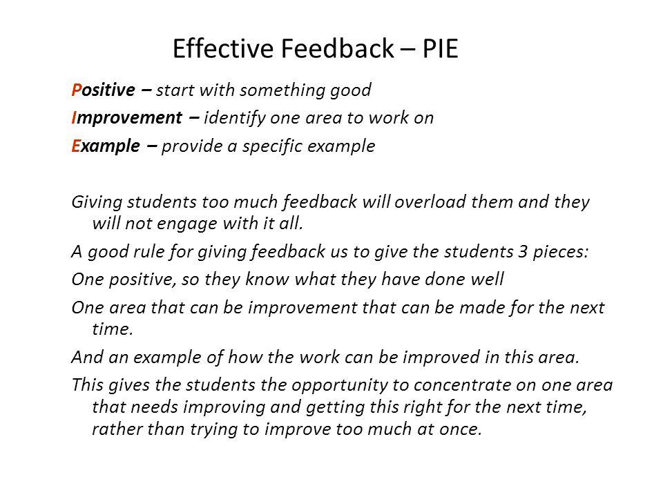Effective Feedback – PIE